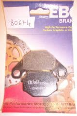 DP. Front + Rear Brake Disc Pads...Quadzilla, Moto-Roma,etc. (type 80674)
