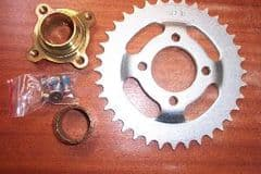 SP. 36T rear sprocket conversion kit, Ram/Quadzilla/Apache, 170 / 200 / 250 (non-rev) + CVT320 SMC