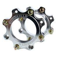 WS. Pair of wheel spacers, 145mm pcd (Q450 front, etc,)