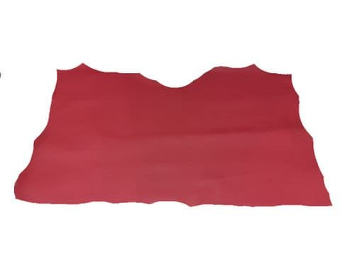 """20sqft 62""""x46"""" DOUBLE BUTT PIT VEG TANNED GLOSSY RED LEATHER HIDES"""