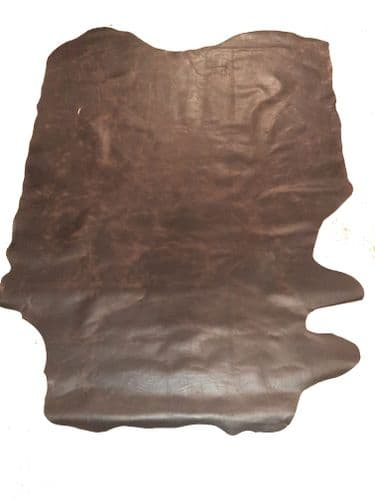 """37 sqft (+/-0.2"""") Brown Pull-Up Pit Tanned Double Back"""