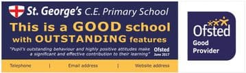 Ofsted Good (outstanding features) banner - Template 4