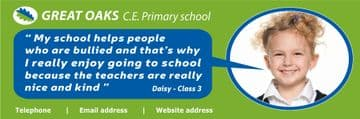 Pupil Quotation banner - Template 1