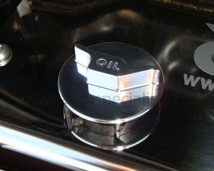 AUTOSPECIALISTS PUSH'N'TWIST OIL FILLER CAP WITH RAISED LOGO