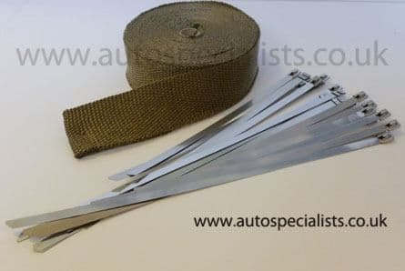 AutoSpecialists Titanium Exhaust Wrap (Higher Temperature) for Turbo Manifolds