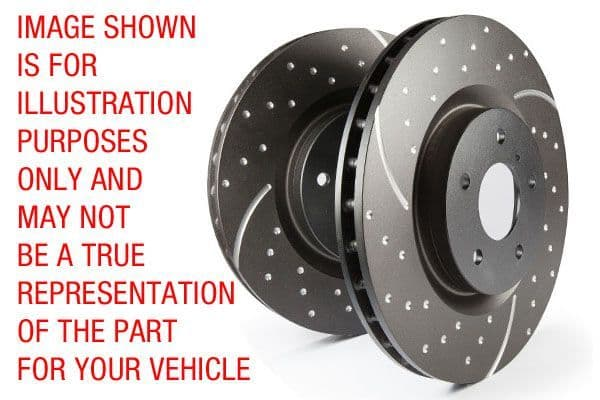 BMW F20/F21- EBC GD Series Slotted And Dimpled Sport Discs (Pair) To Fit Front GD1354