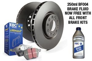 FIESTA MK8 - EBC Brakes Pad And Disc Kit To Fit Rear PDKR1100