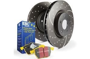 Fiesta ST MK7- EBC Brakes Pad And Disc Kit To Fit Front PD13KF834