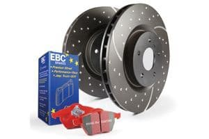 Focus MK2.5 RS-EBC Rear Pad Disc Kit - Turbo Grooved Discs and Redstuff Pads