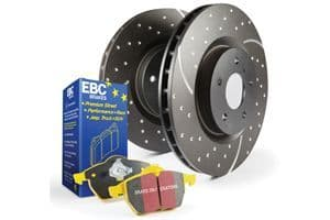 Focus MK2.5 RS-EBC Rear Pad Disc Kit - Turbo Grooved Discs and Yellowstuff Pads