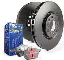Focus MK2.5 RS EBC Ultimax Brakes Pad and Disc Kit to fit Rear