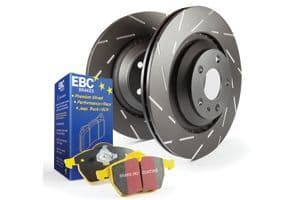 Focus MK3 ST-EBC Front Pad Disc Kit - USR Discs and Yellowstuff Pads