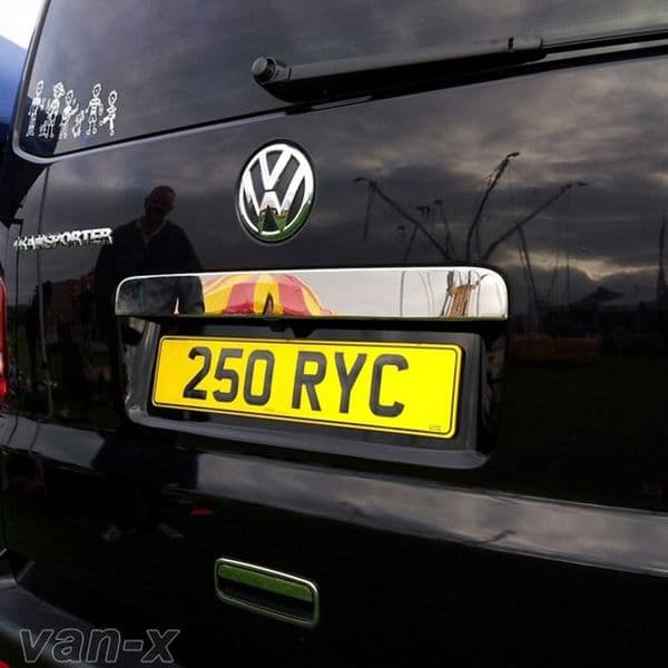 Van-X Number Plate Trim (Tailgate, Stainless Steel) for Transporter T5