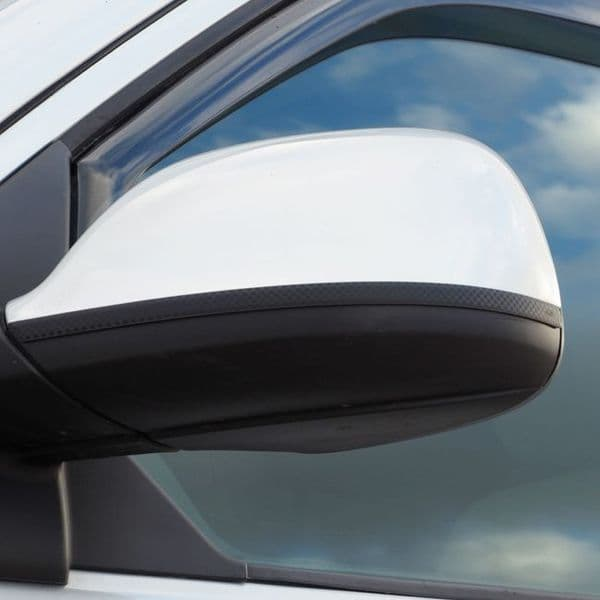 Van-X Stainless Carbon Film Wing Mirror Trims for Transporter T5.1 & T6