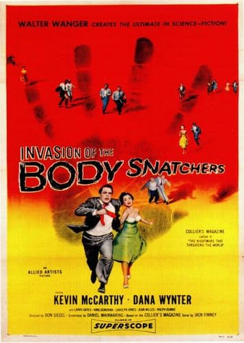1950's Movie - INVASION OF THE BODY SNATCHERS - P1 / canvas print - self adhesive poster - photo