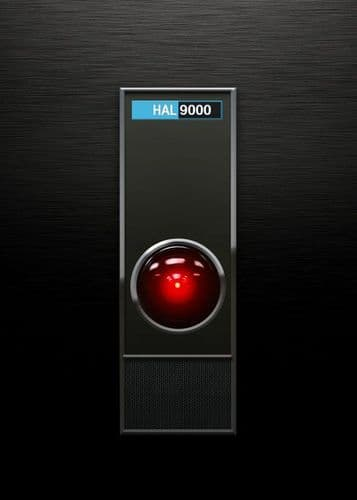 1960's Movie - 2001 A SPACE ODYSSEY - HAL 9000 canvas print - self adhesive poster - photo print