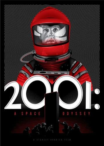 1960's Movie - 2001 A SPACE ODYSSEY - Portrait 2 canvas print - self adhesive poster - photo print