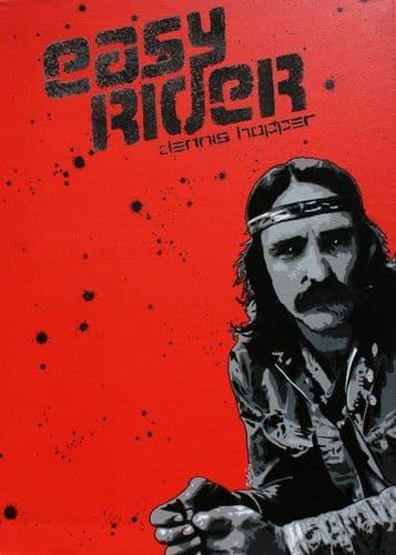 1960's Movie - EASY RIDER - Dennis Hopper red canvas print - self adhesive poster - photo print