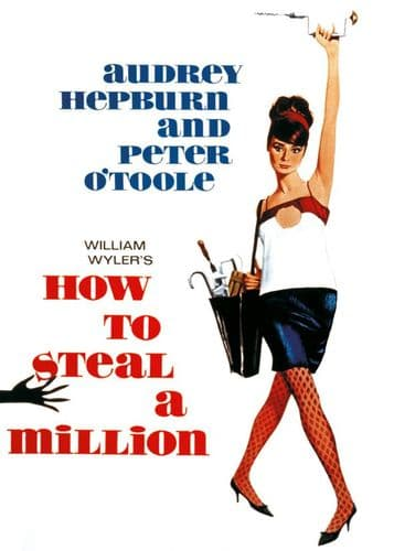 1960's Movie - HOW TO STEAL A MILLION - A Hepburn P2 / canvas print - self adhesive poster - photo