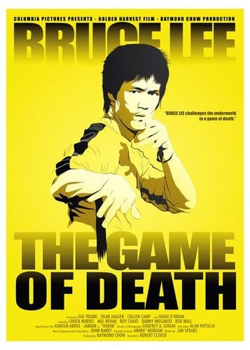 1970's Movie - BRUCE LEE - GAME OF DEATH 1978 canvas print - self adhesive poster - photo print