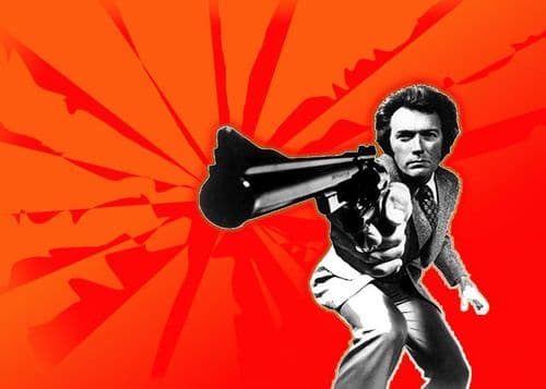 1970's Movie - DIRTY HARRY - Red art landscape canvas print - self adhesive poster - photo print
