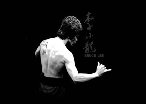 1970's Movie - BRUCE LEE - Enter the Dragon black / canvas print - self adhesive poster - photo