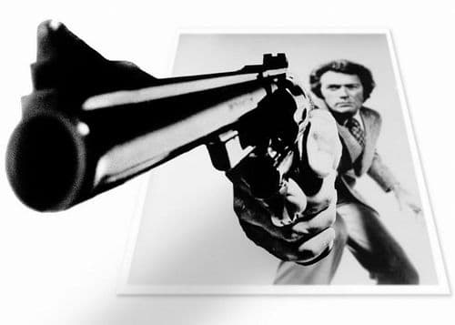 1970's Movie - DIRTY HARRY - Clint Eastwood LS2 / canvas print - self adhesive poster - photo print