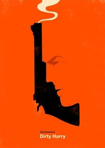 1970's Movie - DIRTY HARRY - Clint Eastwood P4 / canvas print - self adhesive poster - photo print