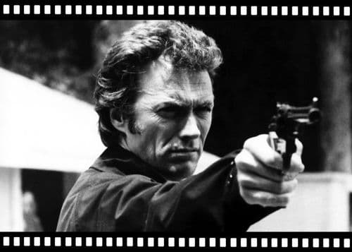 1970's Movie - MAGNUM FORCE - Clint Eastwood - FILM 1 / canvas print - self adhesive poster - photo