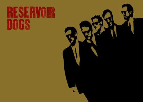 1990's Movie - RESERVOIR DOGS - GOLD LOGO canvas print - self adhesive poster - photo print