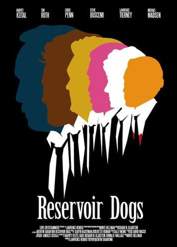 1990's Movie - RESERVOIR DOGS - HEAD COLOURS canvas print - self adhesive poster - photo print
