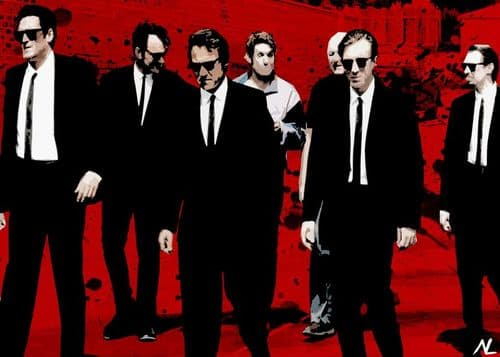 1990's Movie - RESERVOIR DOGS - WALK RED ART canvas print - self adhesive poster - photo print