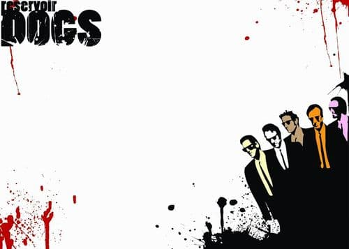 1990's Movie - RESERVOIR DOGS - WHITE BLOOD DRIPS canvas print - self adhesive poster - photo print