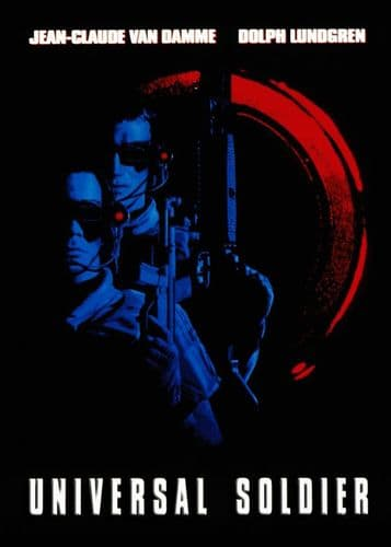 1990's Movie - UNIVERSAL SOLDIER - POSTER STYLE / canvas print - self adhesive poster - photo print
