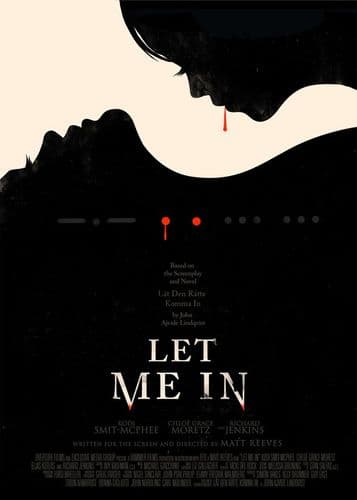 2000's Movie - LET ME IN - MINIMAL POSTER canvas print - self adhesive poster - photo print