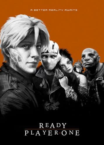2010's Movie - READY PLAYER ONE - LOST BOYS BRONZE / canvas print - self adhesive poster - photo