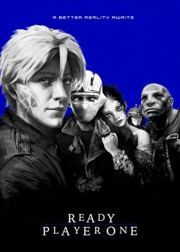2010's Movie - READY PLAYER ONE - LOST BOYS STYLE BLUE / canvas print - self adhesive poster - photo