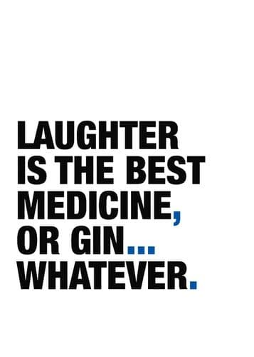 ART - LAUGHTER OR GIN? - BLUE canvas print - self adhesive poster - photo print