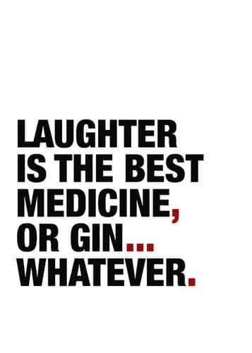 ART - LAUGHTER OR GIN? - RED canvas print - self adhesive poster - photo print