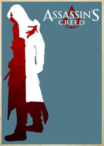 GAMES - ASSASSINS CREED - MINIMAL ART1 canvas print - self adhesive poster - photo print