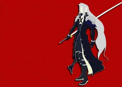 GAMES - FINAL FANTASY - SEPHIROTH ART RED canvas print - self adhesive poster - photo print