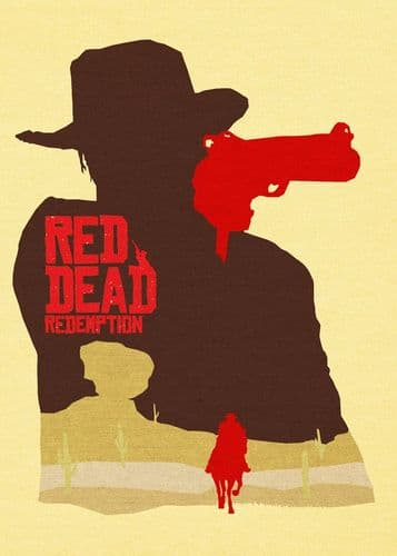 GAMES - RED DEAD REDEMPTION MINIMAL canvas print - self adhesive poster - photo print
