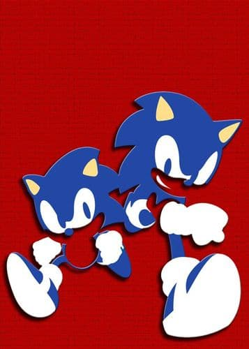 GAMES - SONIC AND MANIC RED canvas print - self adhesive poster - photo print