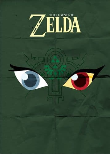 GAMES - ZELDA MINIMAL POSTER canvas print - self adhesive poster - photo print