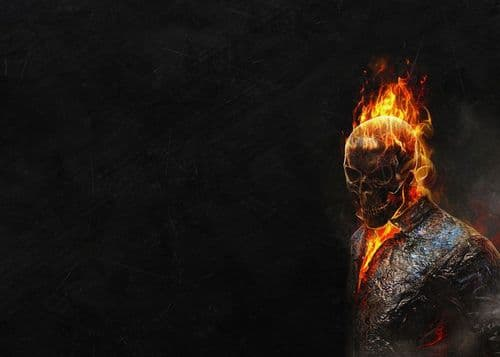 GHOST RIDER - POSE BLACK SCRATCH EFFECT canvas print - self adhesive poster - photo print