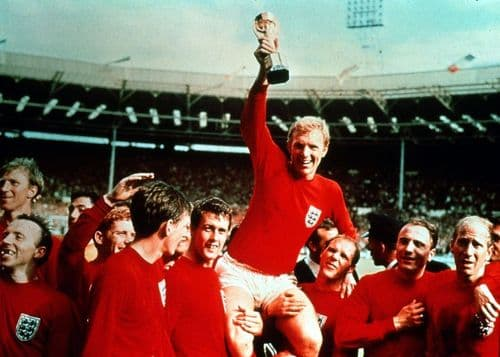 ICONIC - ENGLAND 1966 WORLD CUP - COLOUR canvas print - self adhesive poster - photo print
