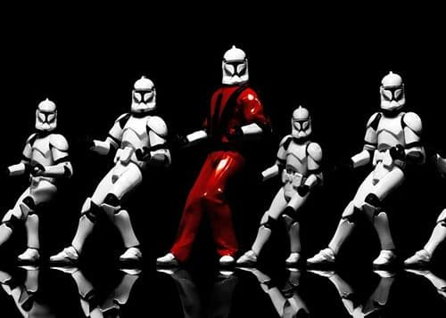 STAR WARS - CLONE TROOPERS - Thriller canvas print - self adhesive poster - photo print