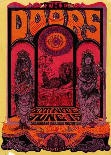 THE DOORS - Live poster canvas print - self adhesive poster - photo print
