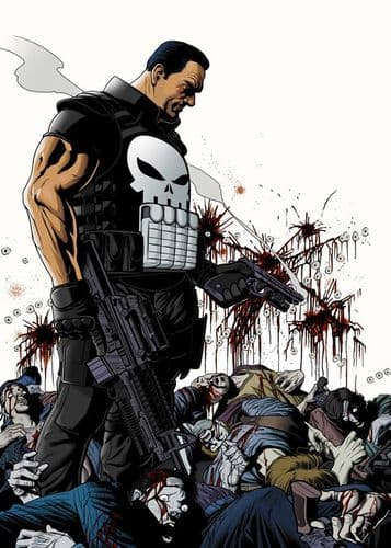 THE PUNISHER - COLOUR BODIES canvas print - self adhesive poster - photo print