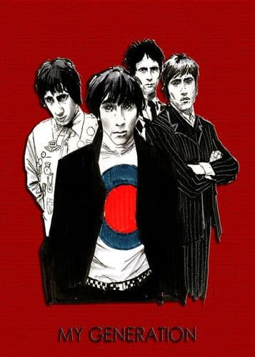 THE WHO - MY GENERATION - RED canvas print - self adhesive poster - photo print